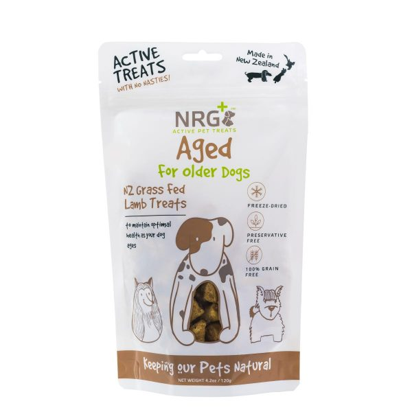 nrg plus active pet treats: aged for older dogs
