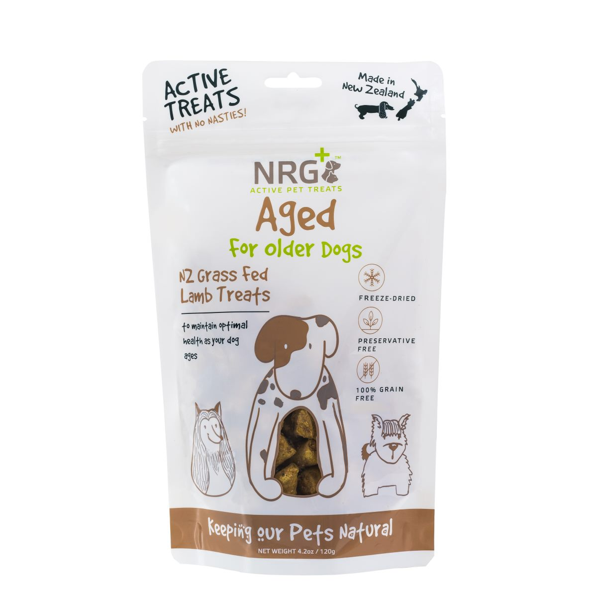 Dog Treats For Ageing Dogs 120g Nrg Plus