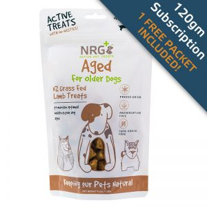 Aged treats subscription for older dogs