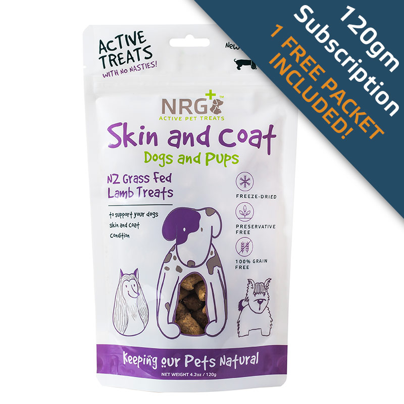 Skin and Coat treats subscription for dogs