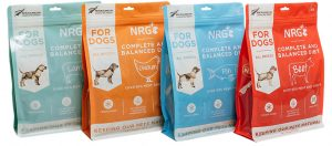 NRG+ freeze dried dog food range