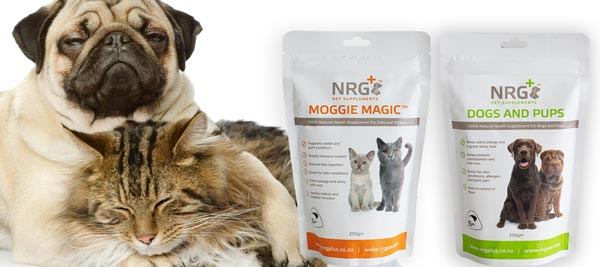 dog and cat supplements by NRG plus