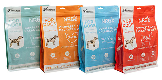 freeze-dried dog food and freeze-dried cat food by NRG+